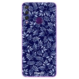 Odolné silikonové pouzdro iSaprio - Blue Leaves 05 na mobil Huawei Y6p