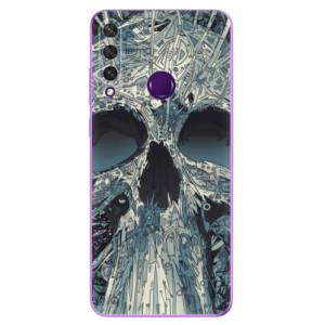 Odolné silikonové pouzdro iSaprio - Abstract Skull na mobil Huawei Y6p