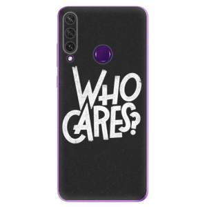 Odolné silikonové pouzdro iSaprio - Who Cares na mobil Huawei Y6p