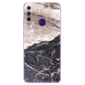 Odolné silikonové pouzdro iSaprio - BW Marble na mobil Huawei Y6p
