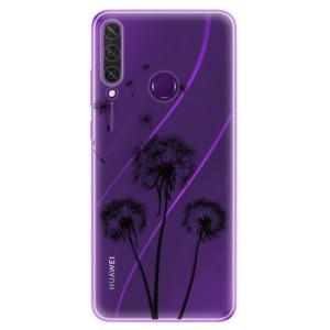 Odolné silikonové pouzdro iSaprio - Three Dandelions - black na mobil Huawei Y6p