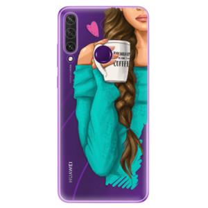 Odolné silikonové pouzdro iSaprio - My Coffe and Brunette Girl na mobil Huawei Y6p