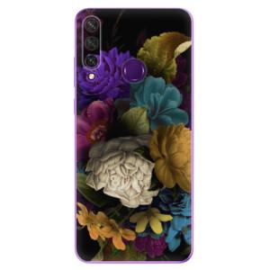 Odolné silikonové pouzdro iSaprio - Dark Flowers na mobil Huawei Y6p