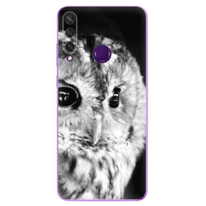 Odolné silikonové pouzdro iSaprio - BW Owl na mobil Huawei Y6p