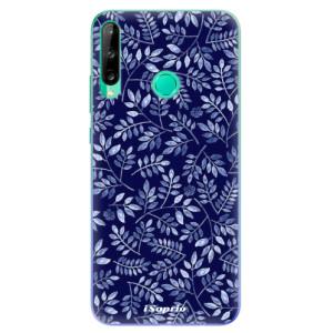 Odolné silikonové pouzdro iSaprio - Blue Leaves 05 na mobil Huawei P40 Lite E