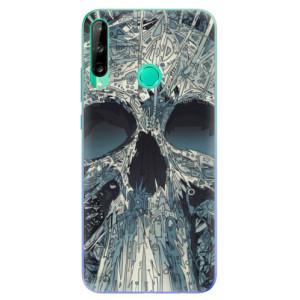 Odolné silikonové pouzdro iSaprio - Abstract Skull na mobil Huawei P40 Lite E
