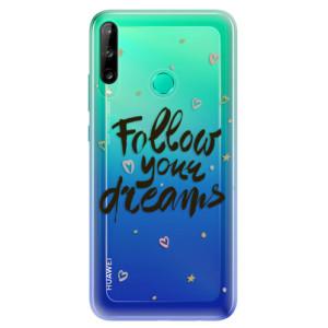 Odolné silikonové pouzdro iSaprio - Follow Your Dreams - black na mobil Huawei P40 Lite E