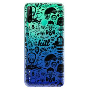 Odolné silikonové pouzdro iSaprio - Comics 01 - black na mobil Huawei P40 Lite E