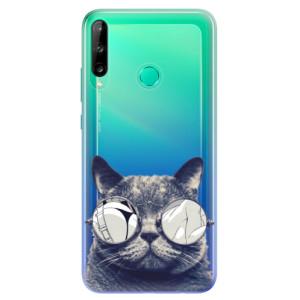 Odolné silikonové pouzdro iSaprio - Crazy Cat 01 na mobil Huawei P40 Lite E