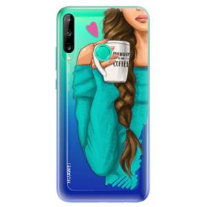 Odolné silikonové pouzdro iSaprio - My Coffe and Brunette Girl na mobil Huawei P40 Lite E
