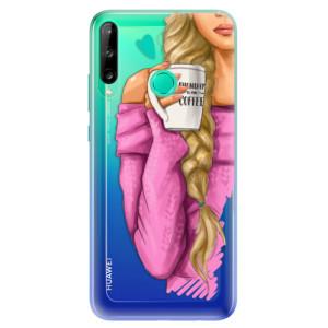 Odolné silikonové pouzdro iSaprio - My Coffe and Blond Girl na mobil Huawei P40 Lite E