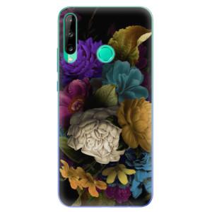 Odolné silikonové pouzdro iSaprio - Dark Flowers na mobil Huawei P40 Lite E