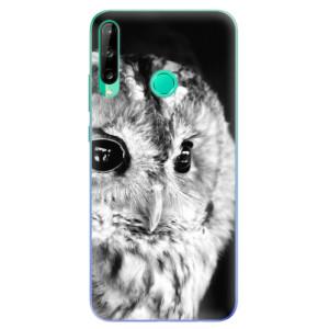 Odolné silikonové pouzdro iSaprio - BW Owl na mobil Huawei P40 Lite E