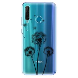 Odolné silikonové pouzdro iSaprio - Three Dandelions - black na mobil Honor 20e / Honor 20 Lite