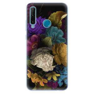 Odolné silikonové pouzdro iSaprio - Dark Flowers na mobil Honor 20e / Honor 20 Lite - poslední kousek za tuto cenu