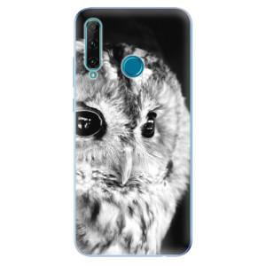 Odolné silikonové pouzdro iSaprio - BW Owl na mobil Honor 20e / Honor 20 Lite