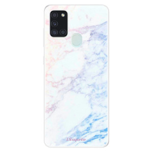 Odolné silikonové pouzdro iSaprio - Raibow Marble 10 na mobil Samsung Galaxy A21s - poslední kousek za tuto cenu