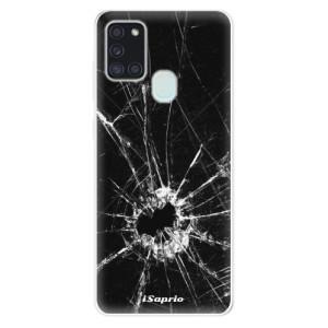 Odolné silikonové pouzdro iSaprio - Broken Glass 10 na mobil Samsung Galaxy A21s