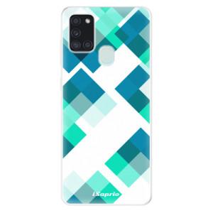 Odolné silikonové pouzdro iSaprio - Abstract Squares 11 na mobil Samsung Galaxy A21s
