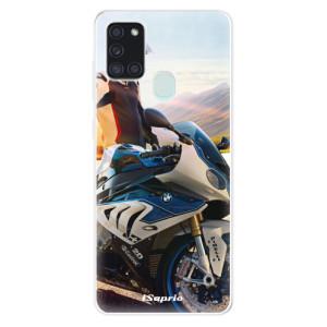 Odolné silikonové pouzdro iSaprio - Motorcycle 10 na mobil Samsung Galaxy A21s - poslední kus za tuto cenu