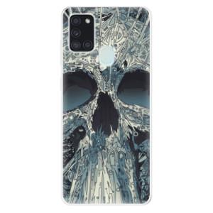 Odolné silikonové pouzdro iSaprio - Abstract Skull na mobil Samsung Galaxy A21s
