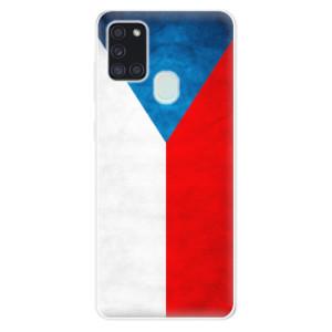 Odolné silikonové pouzdro iSaprio - Czech Flag na mobil Samsung Galaxy A21s