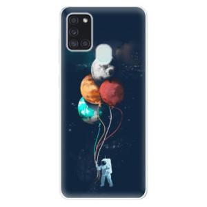 Odolné silikonové pouzdro iSaprio - Balloons 02 na mobil Samsung Galaxy A21s