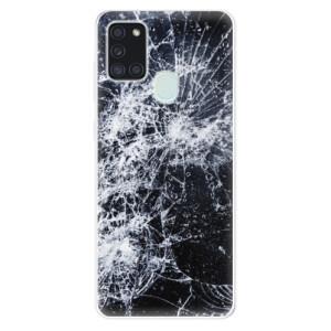 Odolné silikonové pouzdro iSaprio - Cracked na mobil Samsung Galaxy A21s