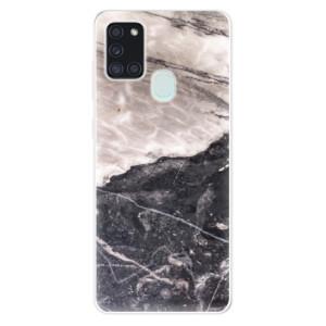 Odolné silikonové pouzdro iSaprio - BW Marble na mobil Samsung Galaxy A21s