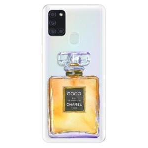 Odolné silikonové pouzdro iSaprio - Chanel Gold na mobil Samsung Galaxy A21s