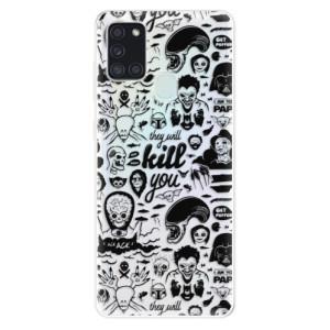 Odolné silikonové pouzdro iSaprio - Comics 01 - black na mobil Samsung Galaxy A21s