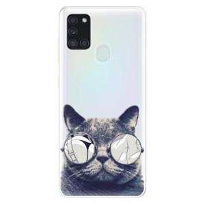 Odolné silikonové pouzdro iSaprio - Crazy Cat 01 na mobil Samsung Galaxy A21s