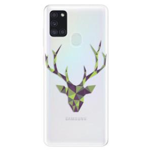 Odolné silikonové pouzdro iSaprio - Deer Green na mobil Samsung Galaxy A21s