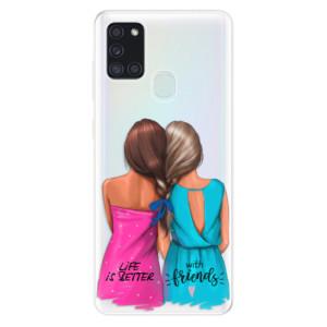 Odolné silikonové pouzdro iSaprio - Best Friends na mobil Samsung Galaxy A21s - poslední kousek za tuto cenu