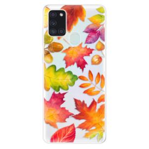 Odolné silikonové pouzdro iSaprio - Autumn Leaves 01 na mobil Samsung Galaxy A21s