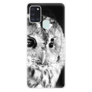 Odolné silikonové pouzdro iSaprio - BW Owl na mobil Samsung Galaxy A21s
