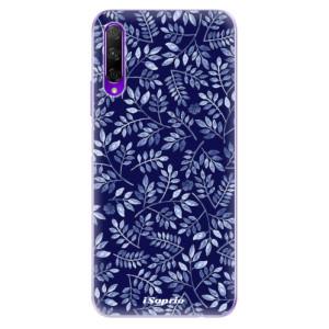 Odolné silikonové pouzdro iSaprio - Blue Leaves 05 na mobil Honor 9X Pro