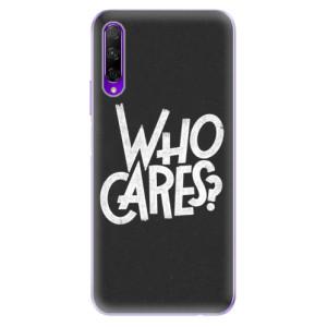 Odolné silikonové pouzdro iSaprio - Who Cares na mobil Honor 9X Pro