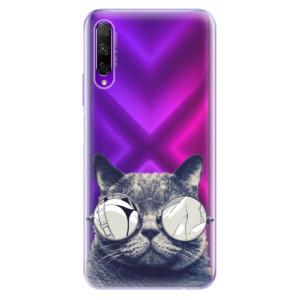 Odolné silikonové pouzdro iSaprio - Crazy Cat 01 na mobil Honor 9X Pro