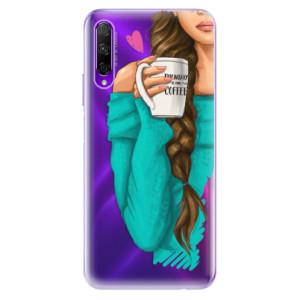Odolné silikonové pouzdro iSaprio - My Coffe and Brunette Girl na mobil Honor 9X Pro
