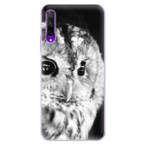 Odolné silikonové pouzdro iSaprio - BW Owl na mobil Honor 9X Pro