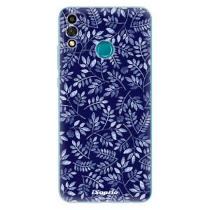 Odolné silikonové pouzdro iSaprio - Blue Leaves 05 na mobil Honor 9X Lite