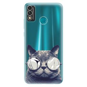 Odolné silikonové pouzdro iSaprio - Crazy Cat 01 na mobil Honor 9X Lite