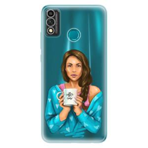 Odolné silikonové pouzdro iSaprio - Coffe Now - Brunette na mobil Honor 9X Lite