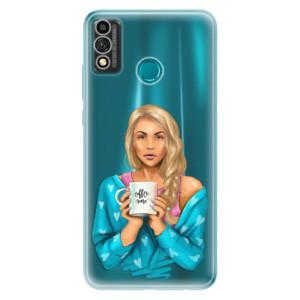 Odolné silikonové pouzdro iSaprio - Coffe Now - Blond na mobil Honor 9X Lite