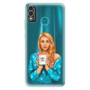 Odolné silikonové pouzdro iSaprio - Coffe Now - Redhead na mobil Honor 9X Lite