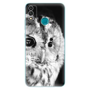 Odolné silikonové pouzdro iSaprio - BW Owl na mobil Honor 9X Lite