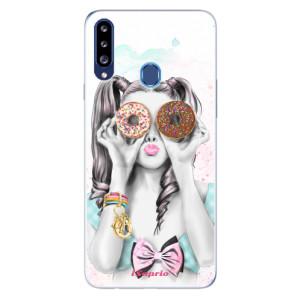 Odolné silikonové pouzdro iSaprio - Donuts 10 na mobil Samsung Galaxy A20s - poslední kousek za tuto cenu