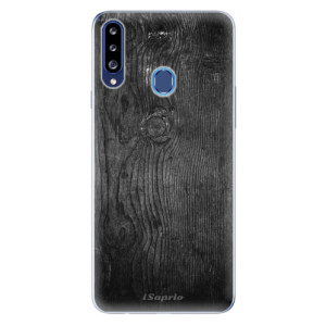 Odolné silikonové pouzdro iSaprio - Black Wood 13 na mobil Samsung Galaxy A20s