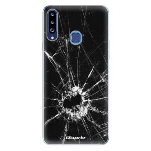 Odolné silikonové pouzdro iSaprio - Broken Glass 10 na mobil Samsung Galaxy A20s